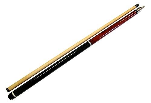 "Iszy Billiards 58"" - 2 PCE Break Pool Cue - Billiard Stick Hardwood Canadian Maple 23 Ounce Red, Red - Black (B-Break-2-23oz)"