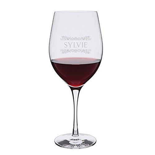Amikado Bicchiere da vino personalizzato con un nome, con fregi