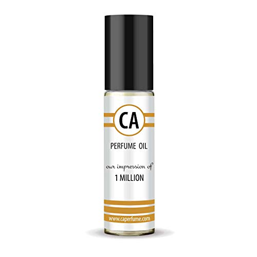 CA Perfume Impression of One Million for Man Fragrance Body Oils Alcohol-Free Essential Aromatherapy Sample Travel Size Roll-On 0.3 Fl Oz/10 ml