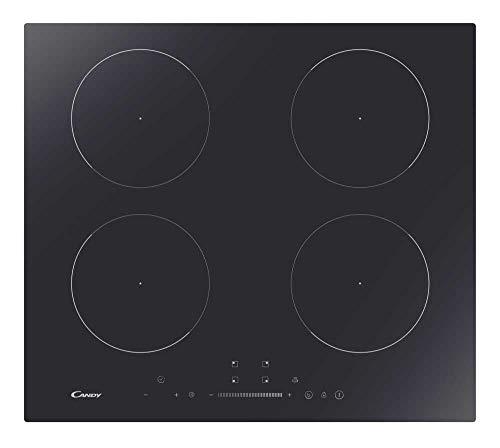 Candy CITT642SSC Plaque de cuisson à induction en vitrocéramique, 4 zones, couleur noir