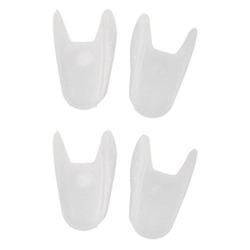 FLAMEER 2 paar Weiß Unisex Silikon Zehenspreizer Orthopädisch Einlegesohlen Schuhzubehör & Pflege