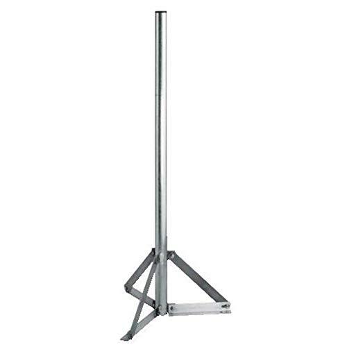 Hama Aluminum Stand Tripod - Kit de sujección (Plata, Aluminio), Color: Silver