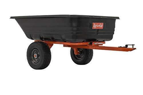 Agri-Fab Inc 45-0552, 700-Pound, Poly Dump/Swivel Cart, Black/Orange