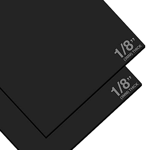 Expanded PVC Sheet – Lightweight Rigid Foam, Durable – 3mm (1/8 Inch) – 24 x 48 Inches – Black – Ideal for Signage, Displays and Digital/Screen Printing (2 Pack)