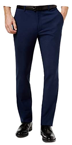 Alfani Men's Slim Fit Stretch Pants (Deep Twilight, 36x32)
