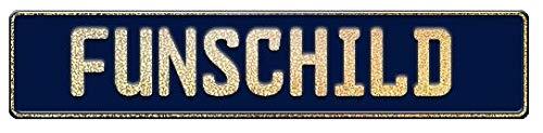 A. Sievers GmbH Fun Schild | Wunschkennzeichen | Namensschild | Fun Kennzeichen | 520x110 mm | viele Farben | Funschilder individuell mit Wunschtext gestaltbar für wenig Geld (Dunkelblau)