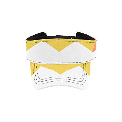 Zemivs Sonnenblende Kappe Nettes Küken Huhn Tierhüte für laufende Männer Wandern Visierhut Verstellbare Sportliche Sportbekleidung Laufende Außenhutkappe für Männer Frauen