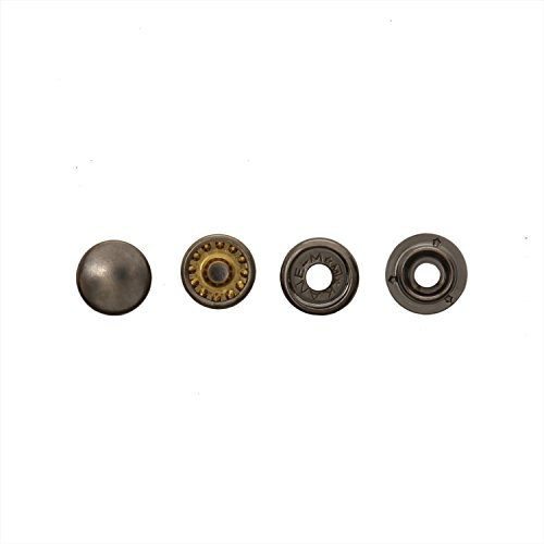 Kihara Bouton Dot 6 Paires 13 mm Nickel Noir
