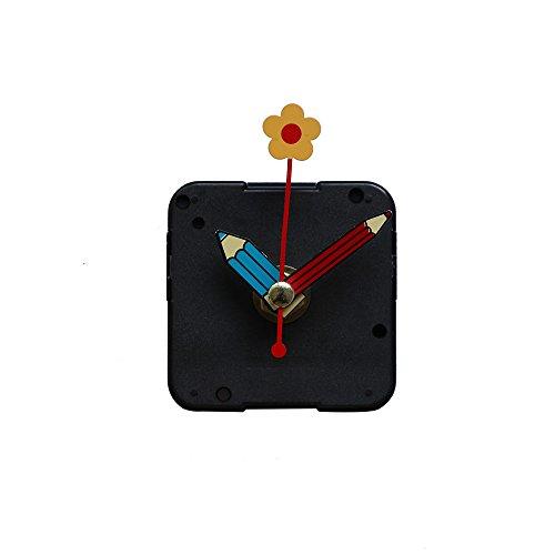 Dekorative Wanduhr,Evansamp Diy Quarzuhr Bewegungsmechanismus Hände Wandreparaturwerkzeug Teile Silent Kit Set(E)