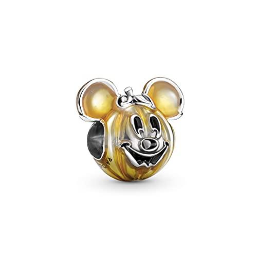 Pandora Disney 799599C01 - Abalorio de plata de ley compatible con pulseras Pandora Moments (13 mm), diseño de Mickey Mouse