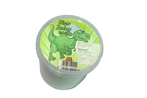 XXL Zuckerwatte | grüne Dinozuckerwatte im Eimer | Mit leckerem Apfel Geschmack | Premium Qualität