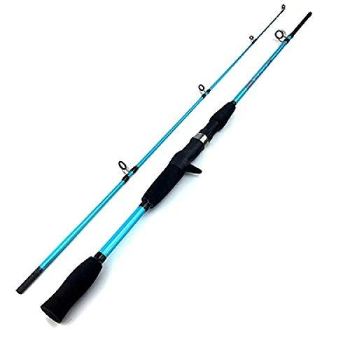 HPPSLT Caña de Pescar Fundición de Hilado señuelo de Rod-3g 21g Peso Señuelo 5-15lb Línea Ultraligero atraer a la Pesca Rod-Blue Sky Caña de Pescar (Color : Sky Blue)