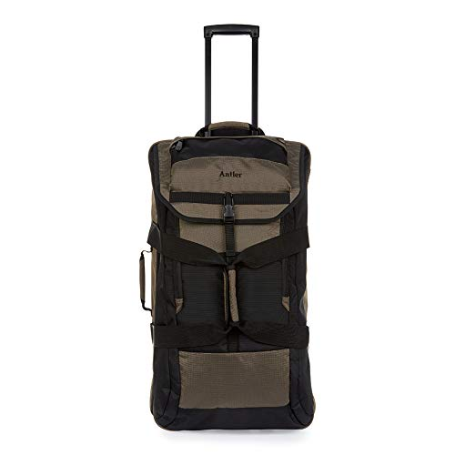 Antler Tundra Mega Decker, Durable Trolley Suitcase, Backpack, Holdall & Duffle Bag with Wheels (Brown, Trolley Bag)