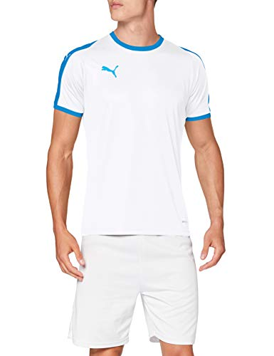 Puma Herren Liga Jersey T-Shirt, White-Electric Blue, M