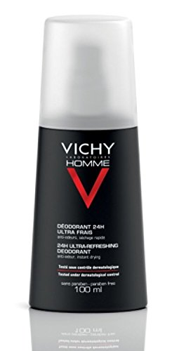 Vichy Homme Desodorante Vaporizador 24h Ultra fresco – Doble pack (solo hasta final de Existencias.), 200 ml