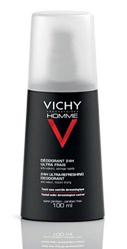 Vichy Homme Desodorante Vaporizador 24h Ultra fresco–Doble pack (solo hasta final de Existencias.), 200ml