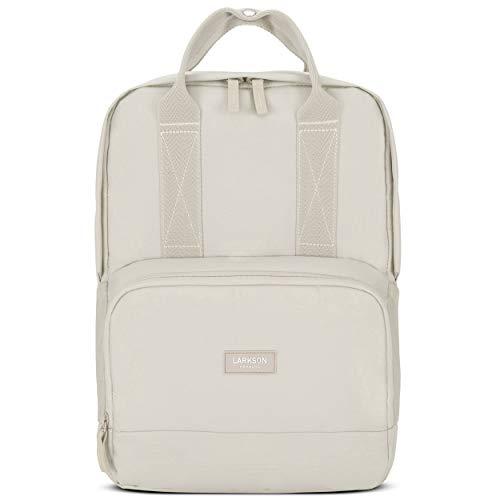 LARKSON Rucksack Damen & Herren Sand No 6 - Moderne Rucksäcke aus recyceltem PET für Arbeit, Uni & Schule - Klein & Elegant - Wasserabweisend mit Laptopfach