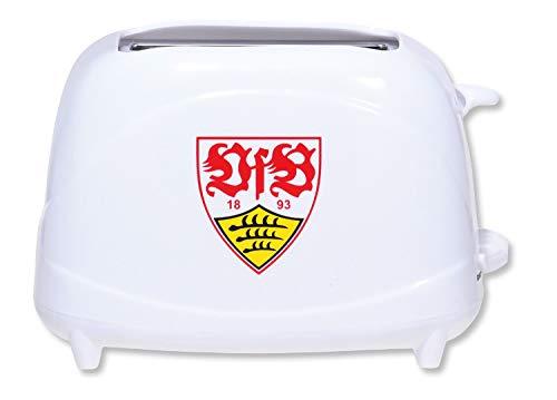 VfB Stuttgart Toaster weiß mit Wappen/Er toastet VfB auf den Toast ABSOLUTES Must Have beim Frühstück