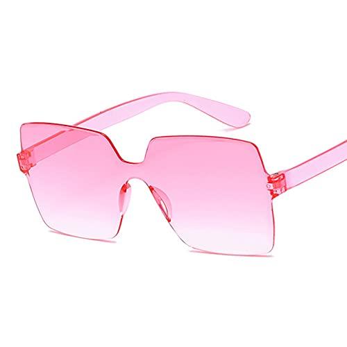 MIMITU Gafas de sol a la moda para mujer, rojo, amarillo, a la moda, cuadradas, gafas de sol para mujer, gafas de conducción UV400, doble rosa