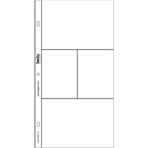 Becky Higgins 380011 Project Life Photo Pocket Page Protector-12 x Design H (12 Piece), Clear Photo #2