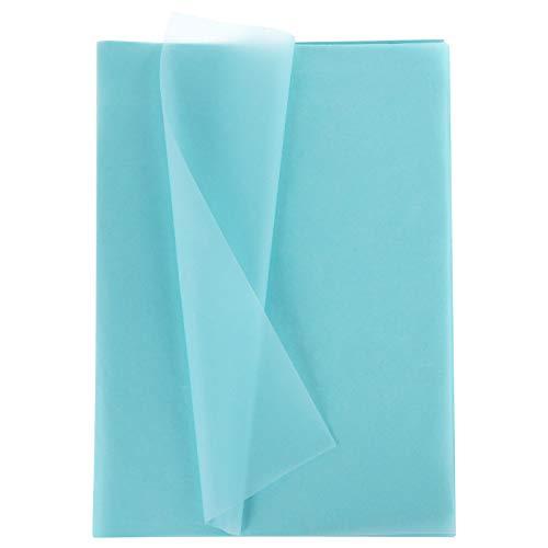 Xinstroe Paquete de 100 hojas de papel de seda de color azul claro, para bodas,...