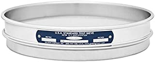 Gilson 8-Inch (203mm) ASTM E11 Test Sieve, All Stainless Steel, No. 200 (75µm) Opening Size, Half Height (V8SH #200)
