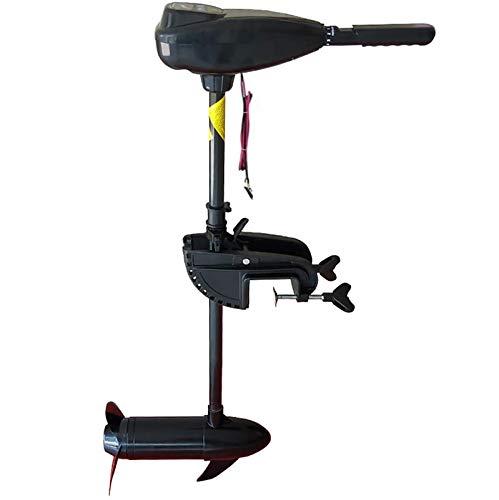 Sirao Motor de trolling eléctrico de 8 velocidades, 18/28/34/40/44/50/54/60/65/54/60/65/86 LBS Transom de Empuje montado con asa Ajustable, para Botes de Pesca. Uso de Agua Dulce y Agua Salada