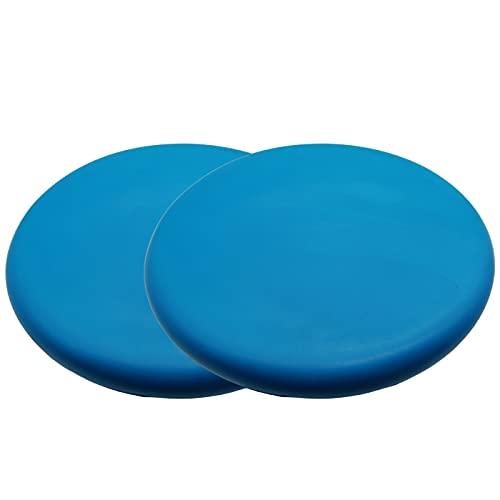 (APOSITV)フライングディスク ソフト スポーツディスク シンプルカラー 軽量 柔らかい 安全 アウトドア (ブルー2個)