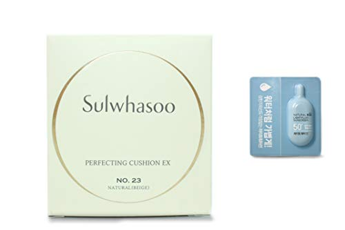 Sulwhasoo Perfecting Cushion Refill #23 Natural Beige (15g) Refill Only, 2019 Renewal Version, Amore Pacific