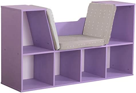KidKraft Bookcase with Reading Nook Lavender product image