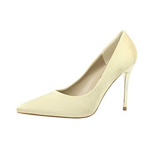 Damenmode High Heel Spitzschuh Kleid Pumps Pfennigabsatz Sandale Slip on Pumps