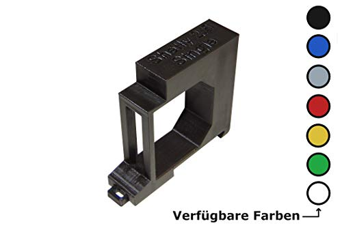 Shelly 2.5 / EM Hutschienenhalter/Adapter Single DIN Rail bracket (35mm) (Grün)