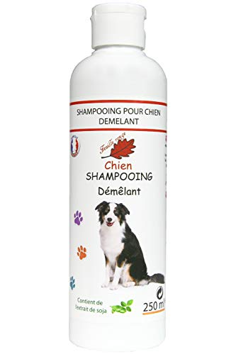 Feuille rouge Shampooing démêlant Chien, 250 ML.
