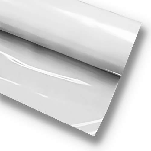 VVIVID + White Premium Line Heat Transfer Vinyl Folie für Cricut, Silhouette & Cameo (30,5 x 91,4 cm)