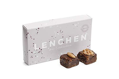 LENCHEN - Der Lebkuchen - 8er Box I Traditionelle Lebkuchen nach uraltem Familienrezept mit Mandeln und Walnuss I Weihnachtsgebäck I Lebkuchen-Pralinen I Lebkuchen Geschenkbox