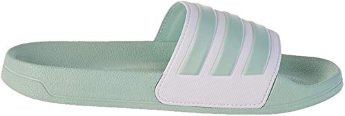 adidas Adilette Shower, womens Slide, Green Tint/Footwear White/Green Tint, 40.5 EU