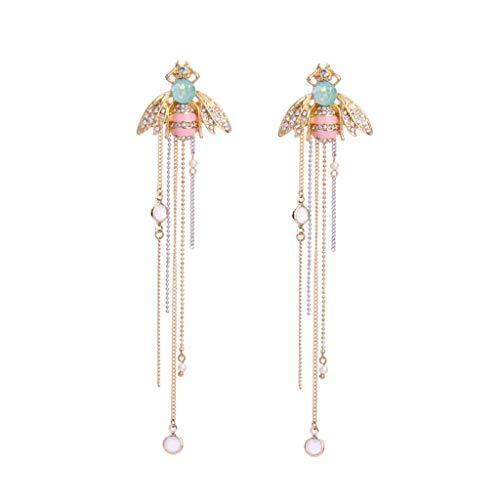 niumanery 1 Pair Fashion Women Earrings Popular Retro Jewelry Charm Lady Tassel Earring Vintage Insect Bee Shape Ear Stud Gifts