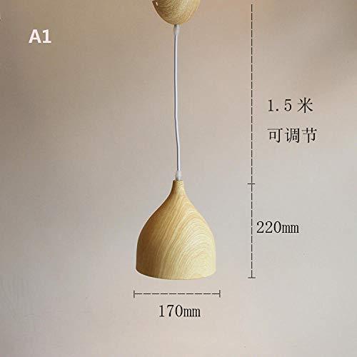 Deckenleuchten Deckenlampe Deckenbeleuchtung Deckenspot Wohnzimmerlampe Holzmuster Lampenschirm Kronleuchter 3 Holz Stehtisch Restaurant Nordic Kreative Persönlichkeit Modernen Minimalistischen Chines