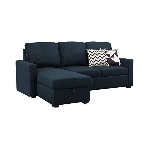 Abbyson Living Storage Sofa Bed Sectional, Navy Blue