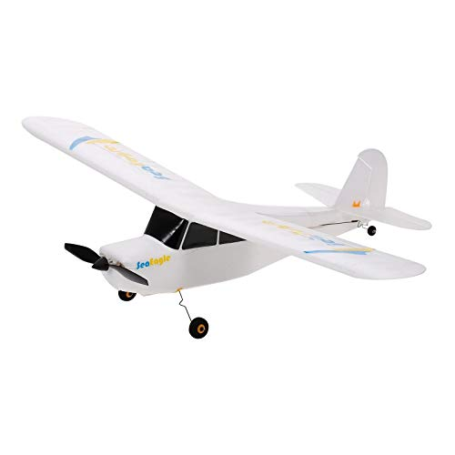 RC Plane Remote 2.4GHz 3-6-Axis 3D Aerobatic Remote Control Aircraft Glider 515mm Outdoor Toy for Kids Adults Beginners (Color : White, Size : One size)