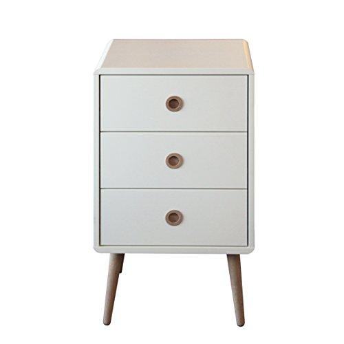Steens Softline Kommode, 3 Schubladen, 41 x 73 x 39 cm (B/H/T), MDF, weiß