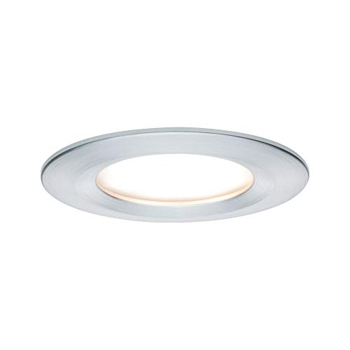 Paulmann 938.97 Premium EBL Set Coin Slim rund starr LED 3x6,8W 2700K 230V 51mm Alu gedreht/Alu 93897 Spot Einbaustrahler Einbauleuchte