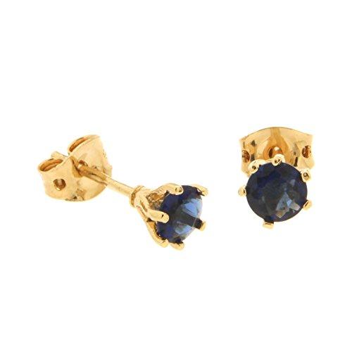 Joyas para todos – Pendientes para mujer – Latón óxido de circonio azul – 1200099 BF.