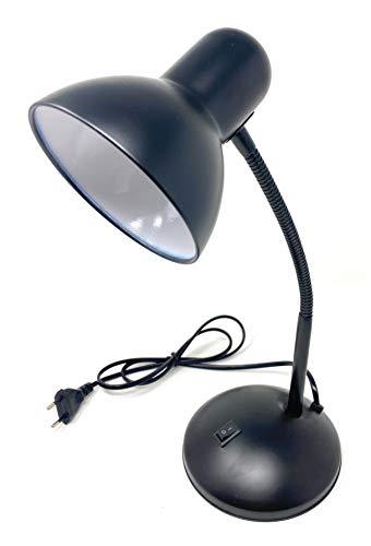 Vetrineinrete Lampada da scrivania con braccio flessibile snodabile luce lume da tavolo orientabile da cameretta (Nero) M83