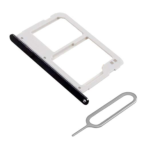 MMOBIEL SIM/SD Karte Schlitten Tray kompatibel mit Samsung Galaxy A3 / A5 / A7 2016 (Schwarz) inkl. SIM Pin