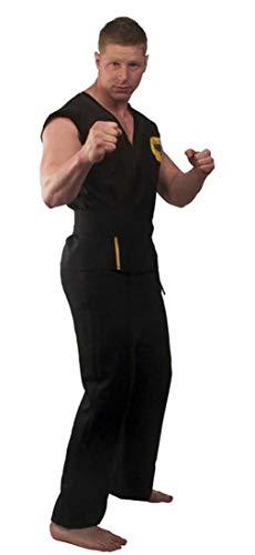 Karate Kid Cobra Kai Deluxe Adult Costume , Black, Standard