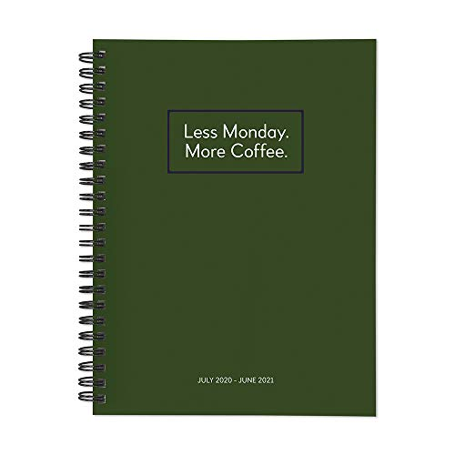 Less Monday More Coffee Medium Daily Weekly Monthly July 2020 - June 2021 Planner + Coordinating Planning Stickers