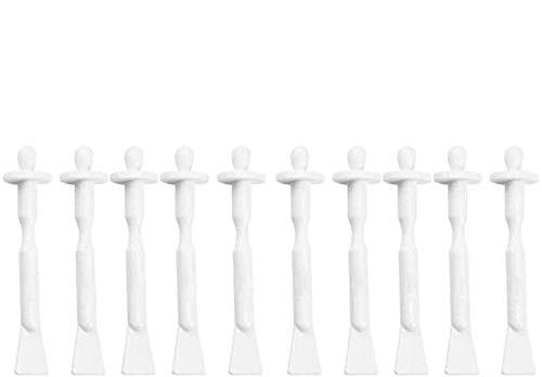 Lot de 10 bâtons de cire pour nez, applicateurs nasaux, spatules, narine, cavité nasale, nettoyage jetable des oreilles, des sourcils, du visage