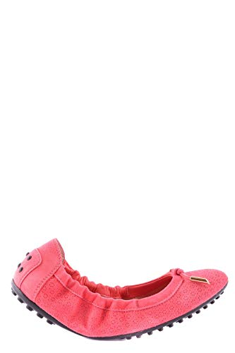 Luxury Fashion | Tod's Dames MCBI20491 Rood Stof Ballerina's | Seizoen Outlet