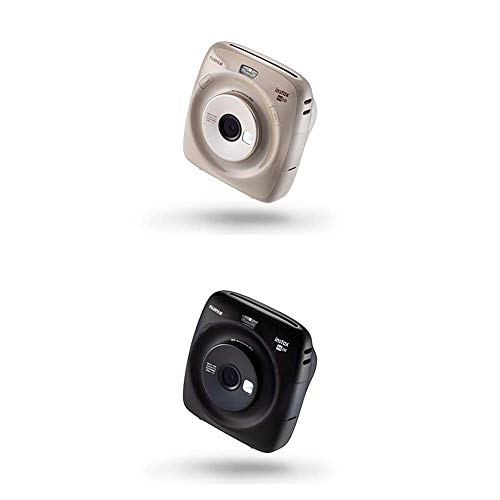 Fujifilm Instax Square SQ 20 Hybride Sofortbildkamera, beige + Instax Square SQ 20 Hybride Sofortbildkamera, schwarz
